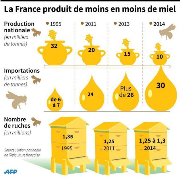 Abeilles-miel par AFP