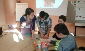 Atelier Eveil sensoriel et découverte des légumes pour les 5eme du Collège Quatre moulins à Brest