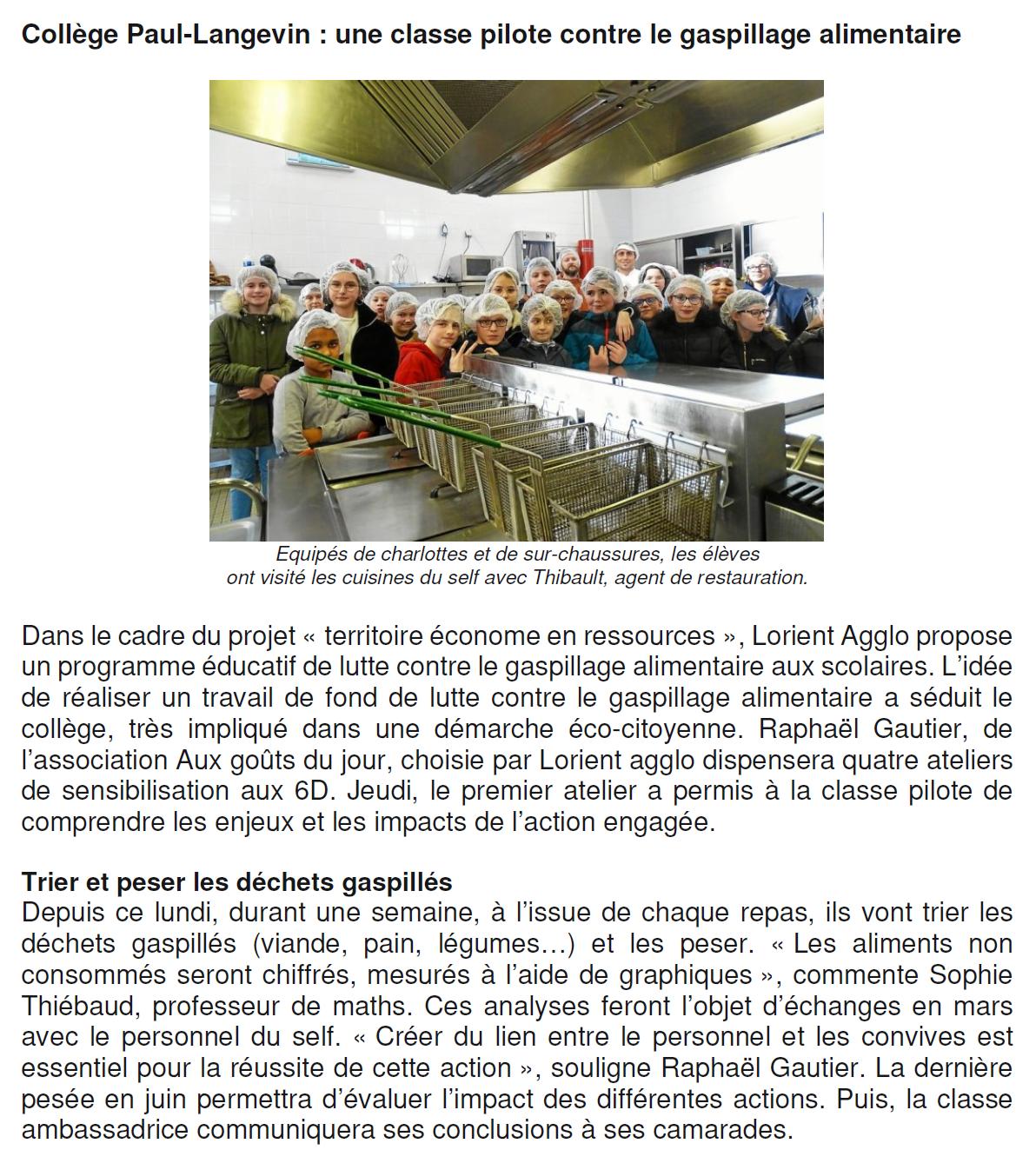 gaspillage alimentaire cantines lorient - Aux Goûts Du Jour