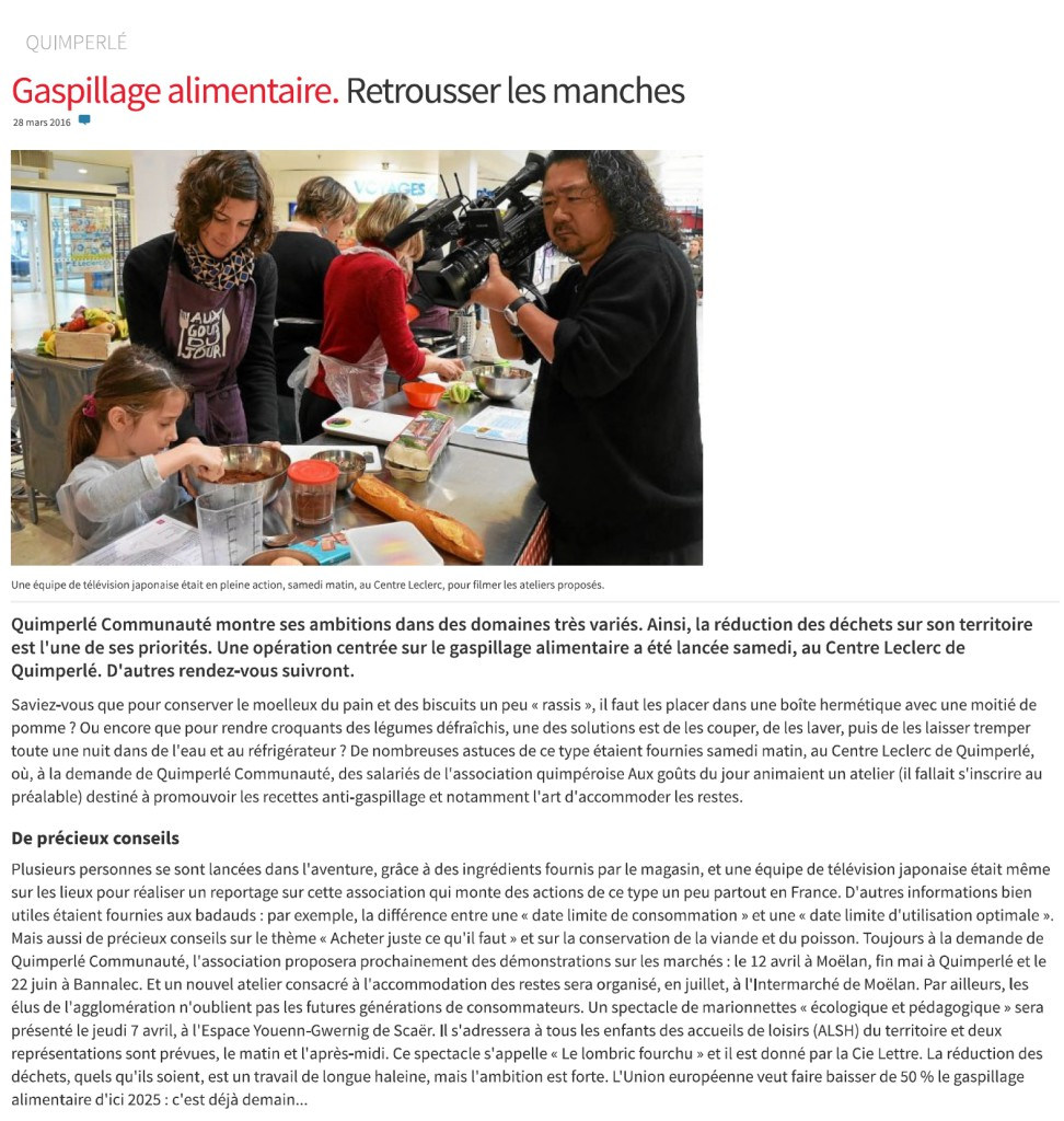 Article_Le_Telegramme_Quimperle_Gaspillage_Alimentaire_28.03.16