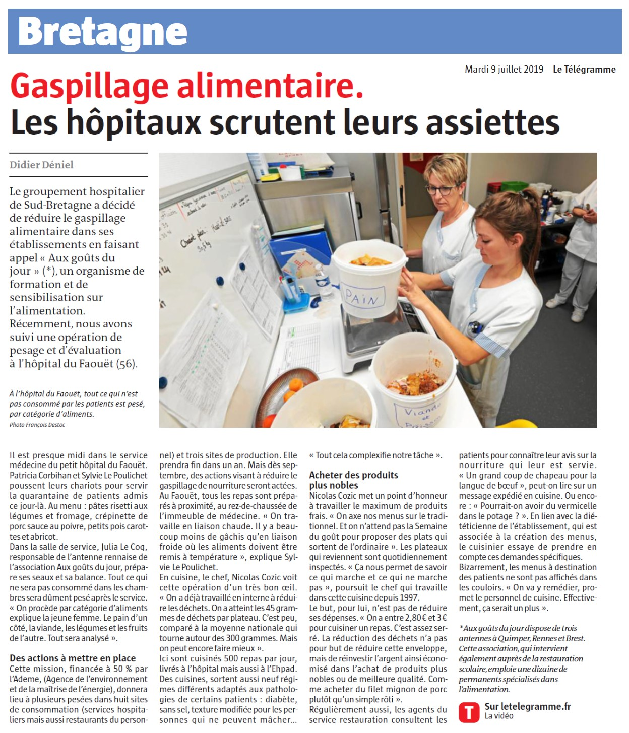 Diagnostic hôpital gaspillage lorient